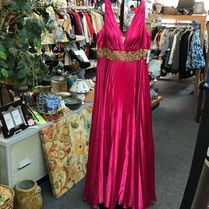 Size 16W beautiful fuchsia with gold sequins dress
